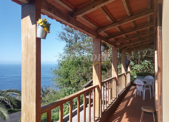 Ref1944, 3 bedrooms house in lauriferous forest, with sea view and privacy for sale, Arco de São Jorge, SANTANA
